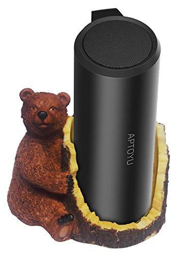 FitSand Brown Bear Crafted Statue Speaker Holder Stand Guard Station for Aptoyu Bluetooth Speaker