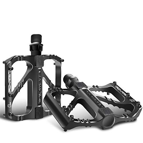 """Sugelary Pedales Bicicleta, Pedales Bicicleta Montaña de Aleación de Aluminio Pedal DU 9/16"""" Pulgadas con Antideslizante Pedal para BMX Bicicleta de Montaña"""