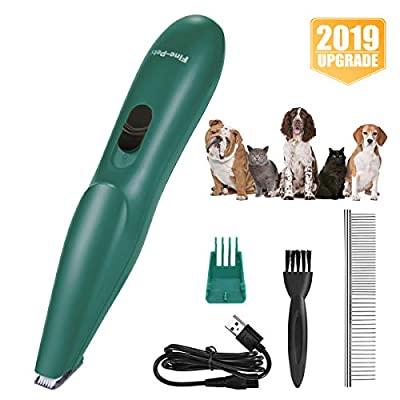 VISSON Dog Clippers - Small Dogs Cats Grooming Kit - Professional Pet Hair Trimmers - USB Rechargeable Low Noise Electric Clippers for Hair Around Face, Paws, Eyes, Ears, Rump