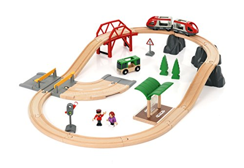 Brio World AB 33915 – Rail y Road City Set, Set de ferrocarril, Multicolor