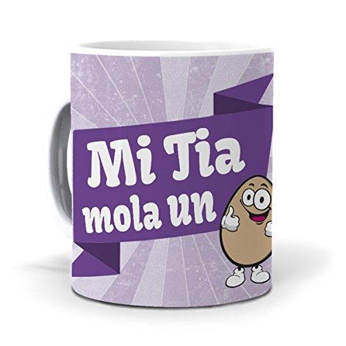 mundohuevo Taza Mi Tia Mola un Huevo Version