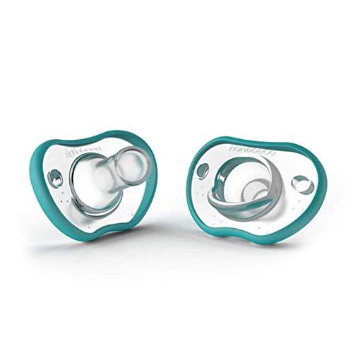 nanobébé Flexy Schnuller, extra weicher Sauger, 0m+, gesunde orale Entwicklung, ergonomische Form, stillfreundlich, schnelle Akzeptanz, 2er Pack, türkis