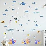 JZLMF 1661 Monde Sous-Marin créatif Stickers muraux Salon Chambre Chambre d'enfants Fond décoration murale bricolage Stickers muraux