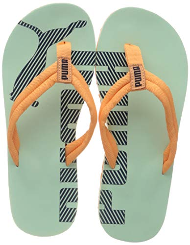 PUMA Unisex-Kinder Epic Flip V2 Jr Zapatos de Playa y Piscina, Grün (Mist Green-Cantaloupe), 39 EU