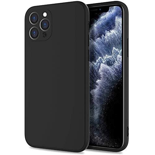 Silicona Líquida Funda para iPhone 6s Plus Case, Funda Silicona líquida de Goma Compatible con iPhone 6s Plus Cover, con Protección Individual para Cámara, Negro