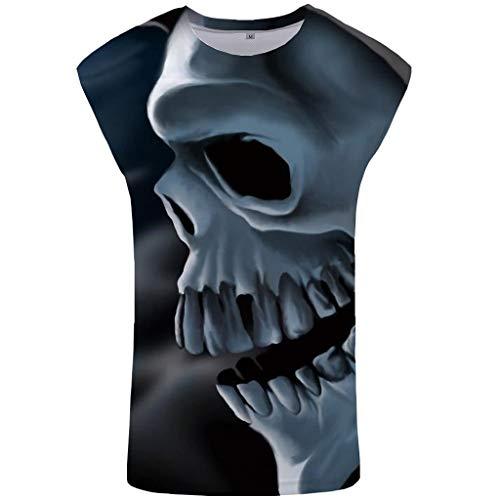 CAOQAO Impreso 3D Chaleco Blusa Moda Confort Blusa Superior Húmero