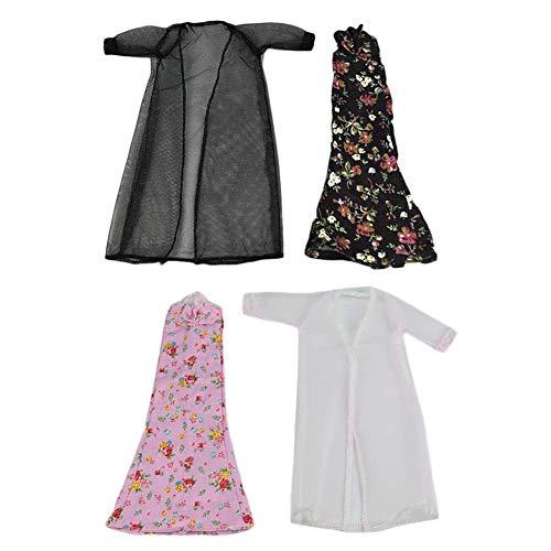 BLANCHO BEDDING 2 Sätze Handmade Doll Pyjamas Home Wear Schwarz Rosa Spitze Bademantel Dessous Nachthemd 11 Zoll Puppe Kleidung Zubehör