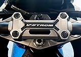Adhesivo de gel 3D para protección de placa de dirección de moto compatible con Suzuki V-Strom 1050