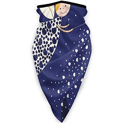 Face Cover Bandanas for Dust,Girls Kids Cartoon Cute Fairy In Sky Casting Magic Over Houses Hearts Stars,Wind Sun Protection Neck Warmer Headband, Outdoors, Festivals, Sports