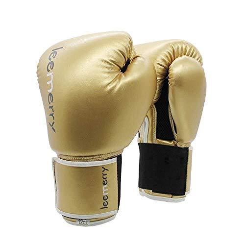 Sanda Use Mini-handschoenen, uniseks, professionele bokshandschoenen voor beginners en volwassenen, voor bokshandschoenen, Muay Thai Free Fight, ademende bokshandschoenen 12oz Goud