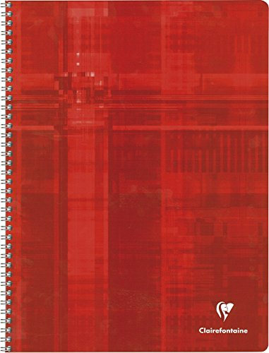 Clairefontaine 8341C - Cuaderno con espirales A4 MAXI rayado francés (Séyès) de 100 páginas, colores surtidos, 1 unidad