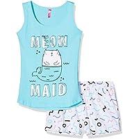 Lina Pink EF.Squad.PSH Conjuntos de Pijama, Azul (Bleu CL/Blanc Bleu CL/Blanc), 12 años para Niñas