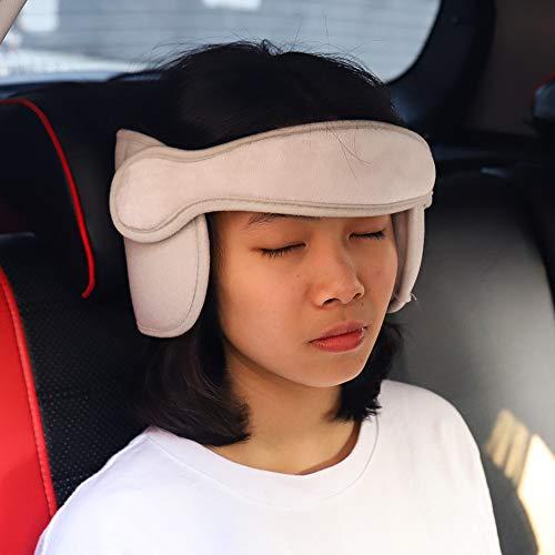 FREESOO Kopfstütze Kindersitz Kinder Auto kinderkopfstütze für Autositz Nackenstützen Einstellbare Kopfschutz Schlafkissen Kopfhalterung Grau