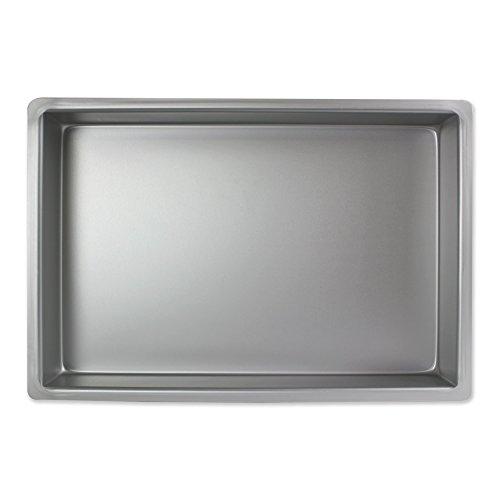 PME Oblongo Molde para Pastel de Aluminio, Plateado, 8 x 12 x 2 Pulgadas