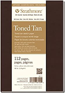Strathmore (481-5 400 Series Softcover Toned Tan Art Sketch Journal, 5.5