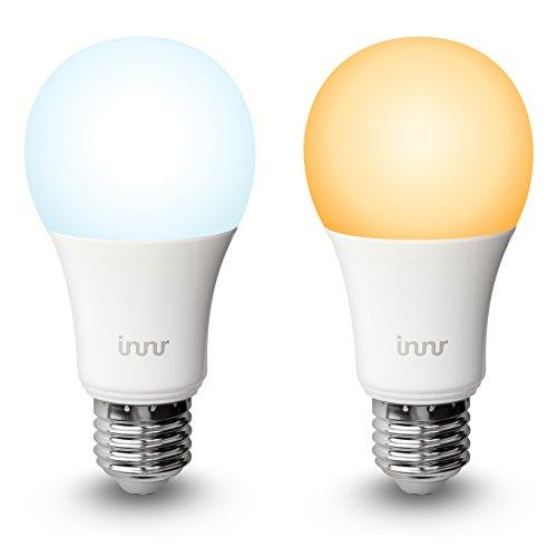 Innr E27Duo Lot de 2Smart, Sélecteur de Blanc, 2200K-5000K, ampoule LED Retrofit (Hue * et Alexa Compatible) RB 178t