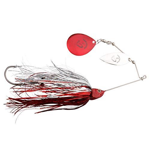 Savage Gear Da Bush Spinnerbait, Spinnköder zum Spinnfischen auf Hecht & Barsch, Hechtköder, Spinner Bait zum Hechtangeln, Farbe:Red Silver Flash, Größe/Gewicht:18cm / 42g