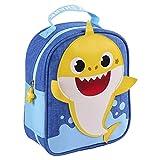 CERDÁ LIFE'S LITTLE MOMENTS Niños, Neceser Escolar Baby Shark-Licencia Oficial Nickelodeon, Azul, Recomendado 3 a 6 años