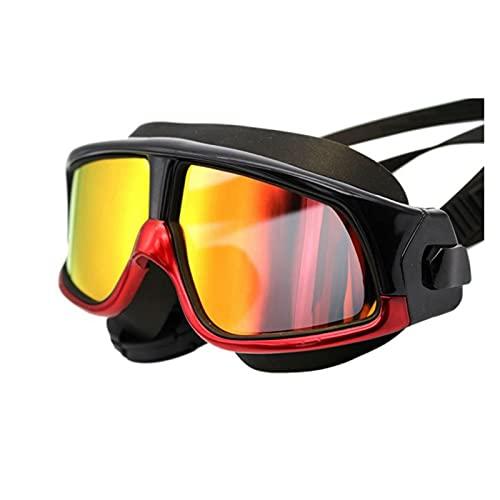 JYDZSW Gafas de natación Hombres Mujeres Nadando Gafas Silicona Buceo natación Gafas a Prueba de Agua Anti-Niebla UV Protección (Color : RB)