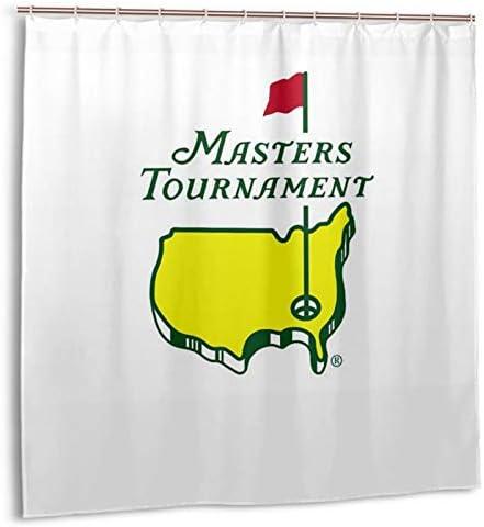 LASWEGA Shower Curtain Masters PGA Augusta National Golf Club Vertical Flag Shower Curtains product image