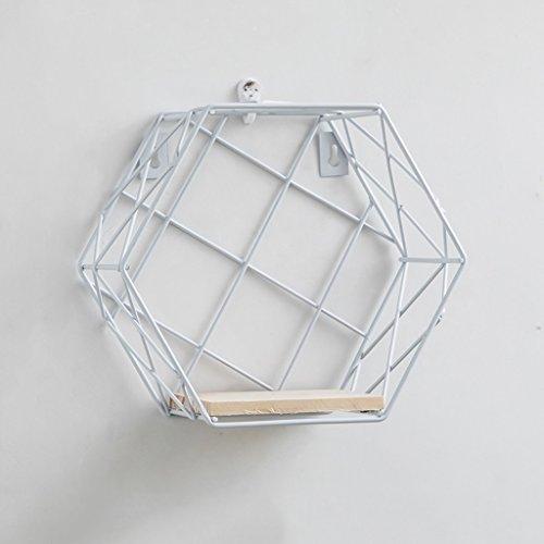 CJH Ins muur plank muur opknoping kamer slaapkamer nordic wind boekenplank gratis ponsen geometrische opslag decoratieve partitie wit