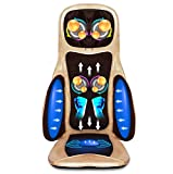 ZGYQGOO Zervikaler Nacken- und Taillen-Rückenmassagegerät mit heißem Shiatsu-Massagekissen Massagekissen Back Home Office Car Massager