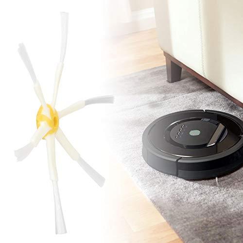 Wosune Cepillos de Robot de Barrido, 15,5 cm / 6,1 Pulgadas de diámetro de Repuesto de cepillos Laterales, para la Serie 600, 500, 700, 500, 600, 700
