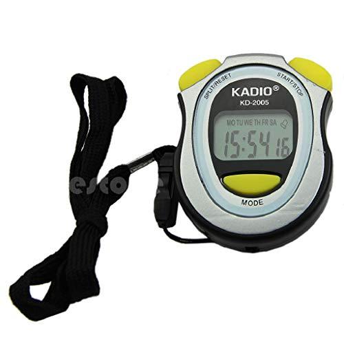 Runrain - Cronógrafo digital de mano con pantalla LCD, cronógrafo, temporizador, contador de cronómetro deportivo