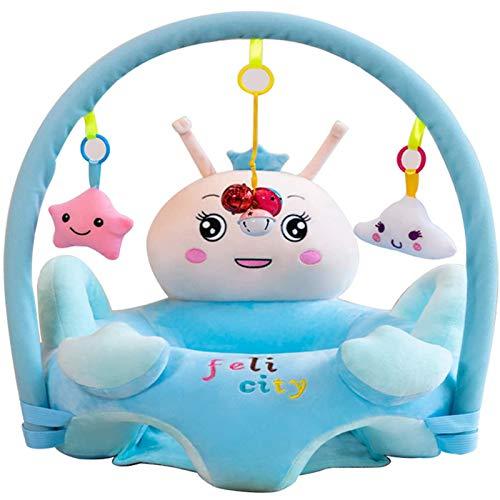DTLEO Baby Sitzstuhl Säugling Sicherheit Sofa Sofa Stuhl waschbar Baby Unterstützung Sitz für Jungen und Mädchen, bequemer Sessel,Blau