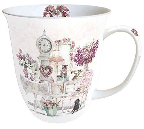 Ambiente Becher Mug Tasse Tee/Kaffee Becher ca. 0,4L Floral Roommates