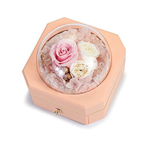 YLEL Día de San Valentín Rose Immortal Creative Joyeria Caja Collar Caja de Regalo Cumpleaños Caja de Regalo Caja de Almacenamiento Pendiente Caja de Collar, Color (Rosa Azul) (Color : Pink)