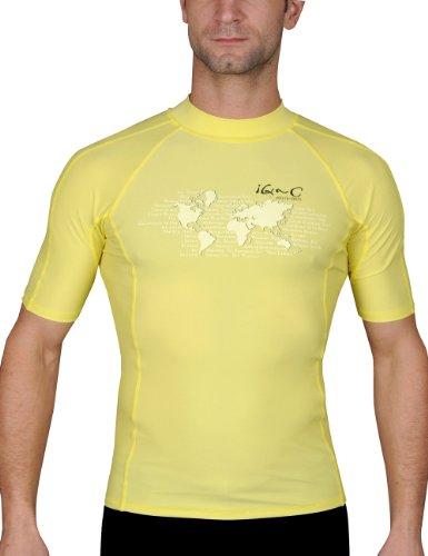 iQ-UV Herren UV-Shirt IQ 300 Watersport Ocean, yellow, L (52)