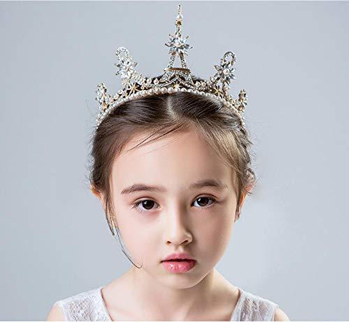Kinderen Prinses Rok Accessoires Headdress Kroon Meisjes Festival Prestaties Haaraccessoires Hoofdband Kroon Bloem Meisje Bruiloft Haar Hoop Vrouwen