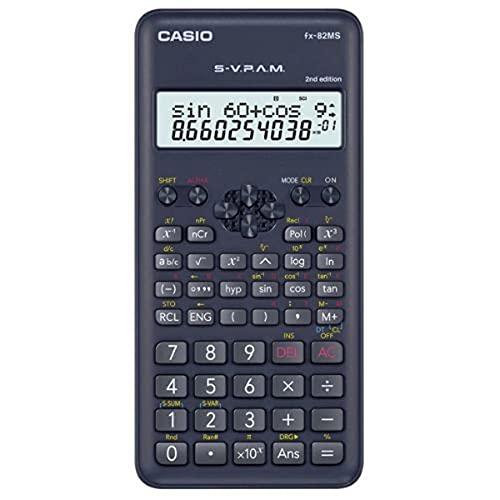 Calculadora científica Casio c/ 240 funções, visor de 2 linhas e 10 dígitos FX-82MS-2-S4DH