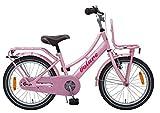 Bicicleta Niña Excellent 18 Pulgadas Freno Delantero al Manillar y Trasero Contropedal Portabultos Rosa 95% Montado