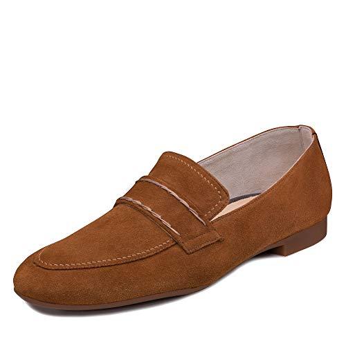 Paul Green Damen SlipperMokassins 2504, Frauen Slipper, schlupfhalbschuh College Schuh Loafer businessschuh weibliche Lady,Caramel,38 EU / 5 UK