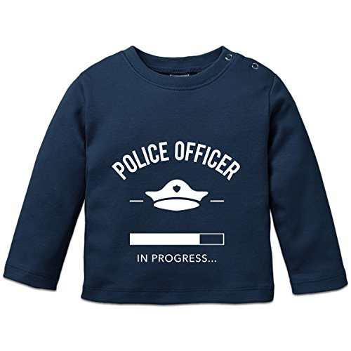Shirtcity Police Officer in Progress Baby Long Sleeve Shirt 56/62 Blue