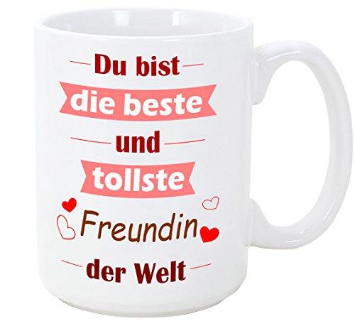 Mugffins Tasse als Geschenk für Verliebte - Du bist die Beste und tollste Freundin der Welt - 350 ml - Schöne und lustige Kaffeetassen mit Sprüchen, zu verschenken