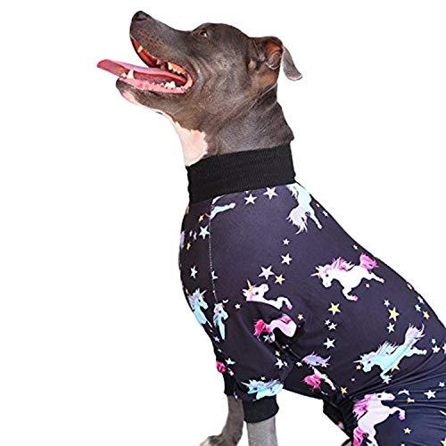 Tooth & Honey Big Dog Pajamas/Unicorn Dog Pajamas/Lightweight Pullover Pajamas/Full Coverage Dog pjs (Extra Large)