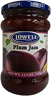 Lowell Foods Plum Jam Low Sugar, 11.3 Ounce (3 pack)