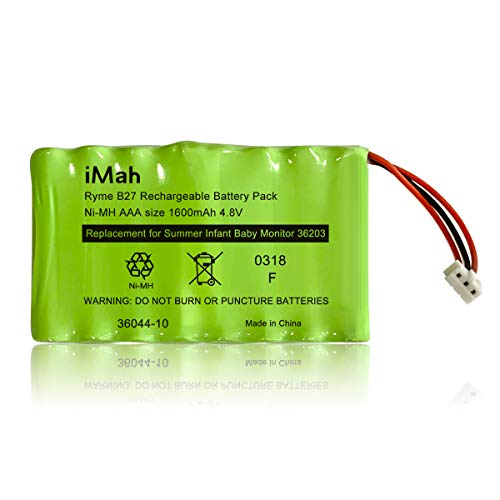 Replacement Ni-MH AAA 1600mAh 4.8V Battery 36044-10 for Summer Pure HD 4.5 Inch Monitor 36203 36203-2, Baby Pixel Zoom HD 5.0 Inch 36044