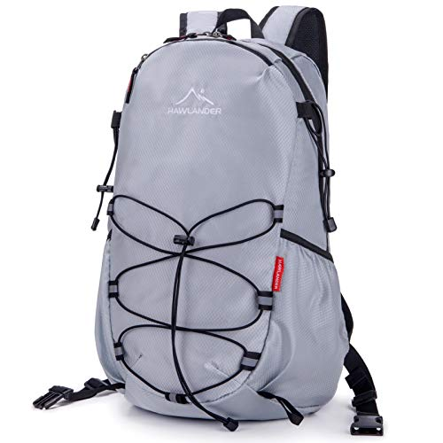 day packs HawLander Packable Hiking Backpack Foldable Day pack for Travel, Grey, Small 28L