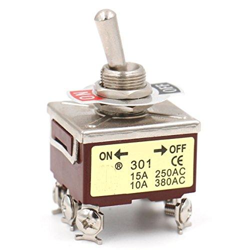 Heschen Interrupteur à bascule en métal 3PST maintenu ON/OFF 2 positions 15A 250VAC 10A 380VAC CE