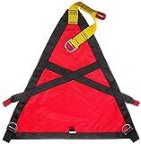 Qjkmgd Triangolo Cintura di Salvataggio Arrampicata su Roccia, Alpinismo all'aperto Cablaggio di Sicurezza per la Sicurezza del Campeggio per Il Lavoro Aereo evacuate