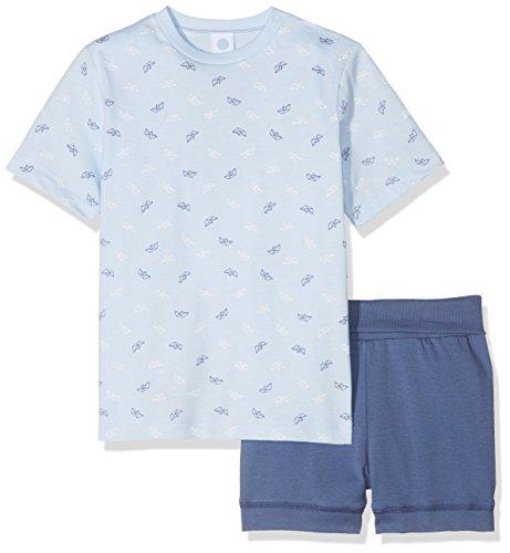 Sanetta Sanetta Baby-Jungen 221388 Zweiteiliger Schlafanzug, Blau (Light Blue 50137), 74