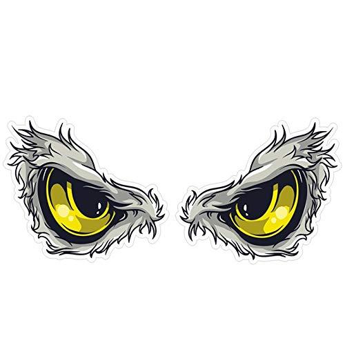 2 paia 3D Sticker auto su vetture Stereo riflettenti uccelli Hawkeye Eagle Eyes Side Car Fender Sticker specchio retrovisore di Windows Decal