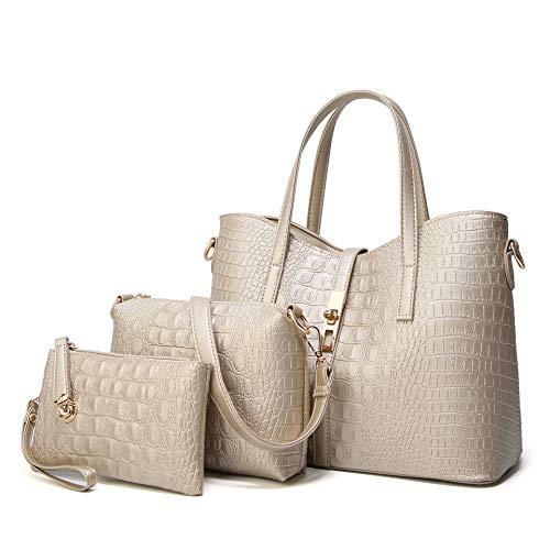 Frau Pu Mutter Tasche Europa und den Vereinigten Staaten einfache Big Bag mehrteilige Messenger Bag Modetrend Handtasche mit großer Kapazität Umhängetasche-2