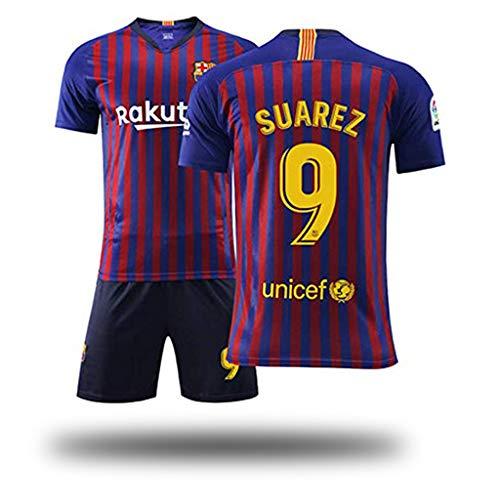 Fútbol Club Barcelona Auswärtsspiel Suarez # 9 Kinder Jugend Fußball Trikot und Shorts, Kostüm Sportswear Kleidung für Männer Fußball Trikot Jugend Frauen Jungen Kinder Kidswear-2-XXL