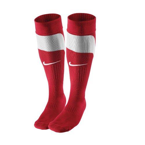 Nike 361138Tournament Calzettoni., rosso/bianco