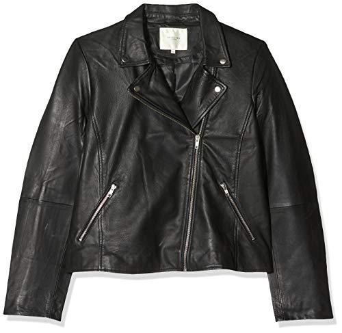 SELECTED FEMME Damen Slfmarlen Leather Jacket Noos B Jacke, Schwarz (Black Black), (Herstellergröße: 44)